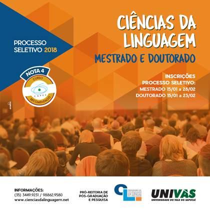 Processo Seletivo para o Programa de Pós-Graduação – UNIVÁS